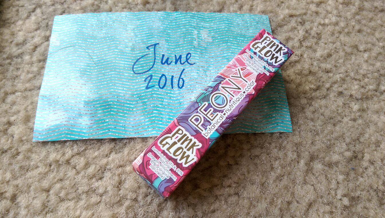 Lip Monthly Lip monthly june 2016-Peony pink glow highlighter