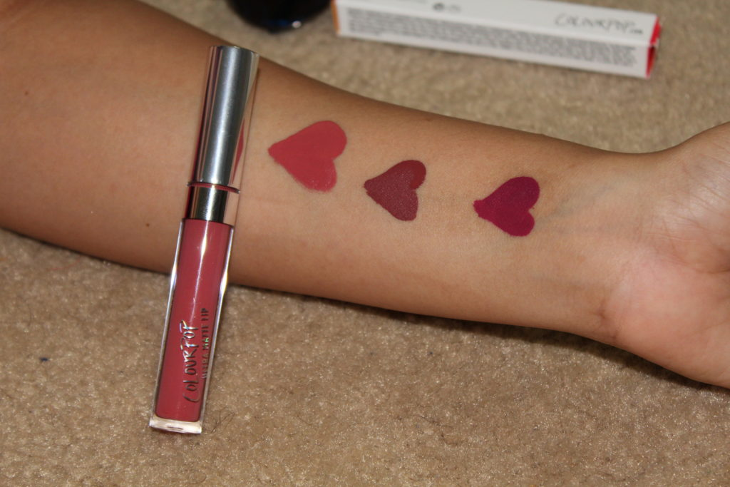 colorpop Bumble liquid lipstick swatch