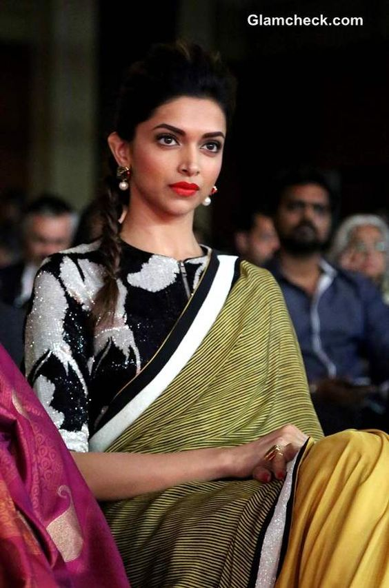 Deepika Padukone In Saree Latest Photos