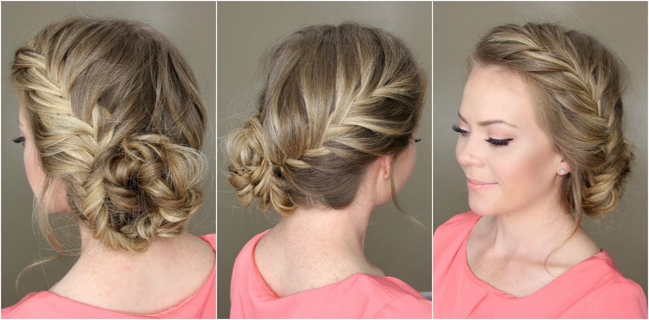 Buns Hairstyles fancy bun wedding hairstyle Bun Hairstyles Videos For Short To Long Hair Hair Updos