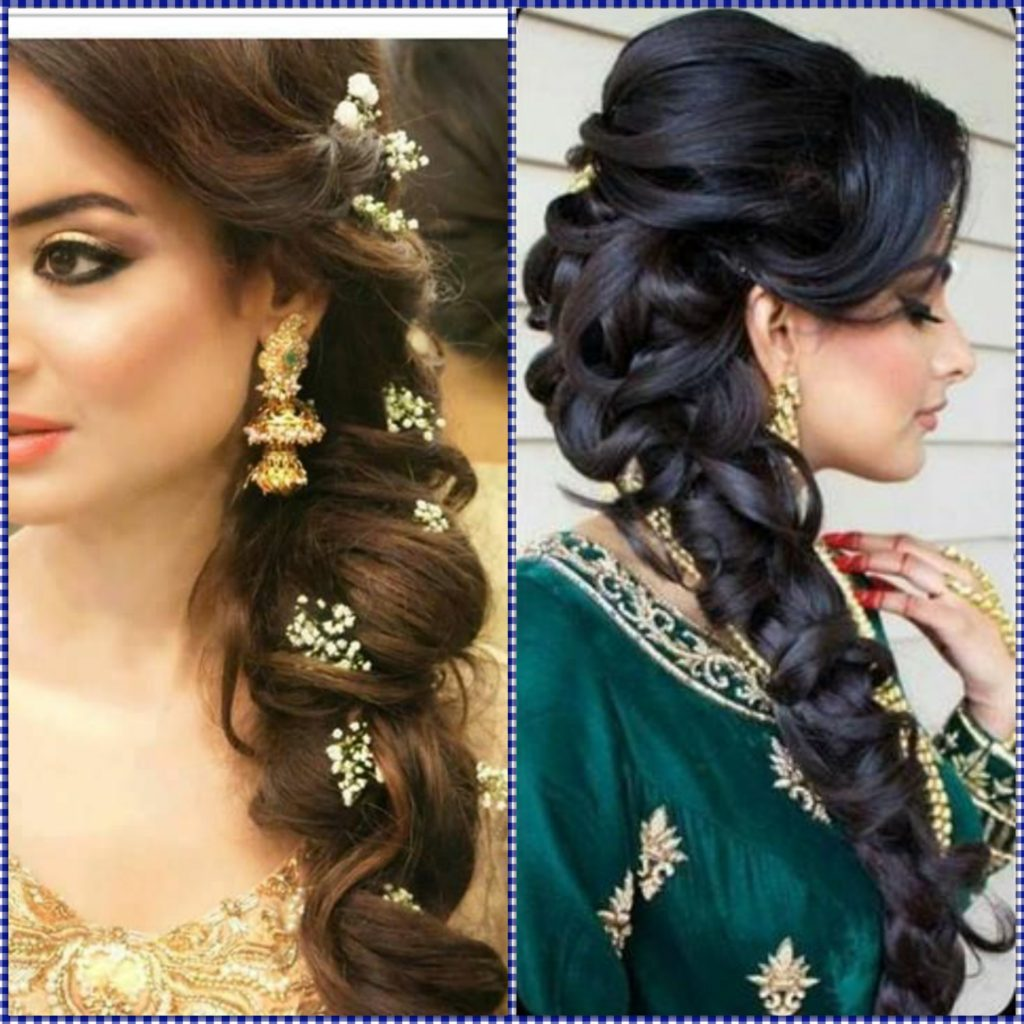 indian wedding hairstyles for mid to long hair - fabb