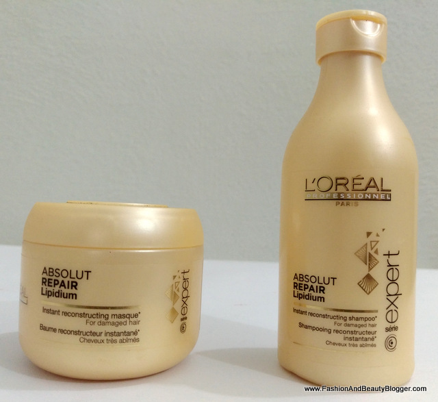 L'Oreal Absolut Repair Lipidium Shampoo and Masque Review - FashionAndBeautyBlogger.com {FABB}