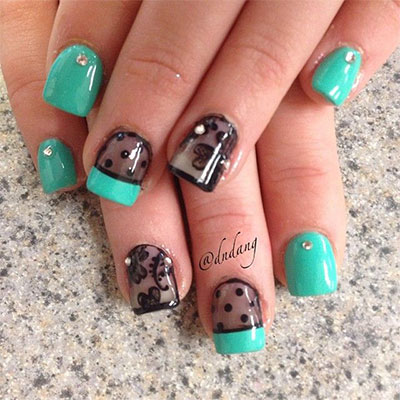 Simple Nail art design for college girls