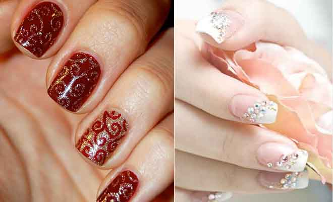 Nail art designs for Mehandi celebration