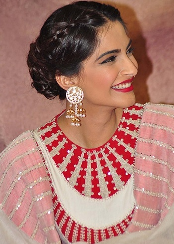 sonam-kapoor-braided-bun-hairstyle