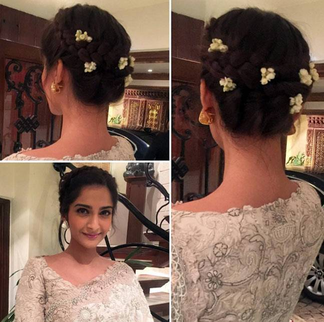 sonam-kapoor-bun-hairstyle-for-saree