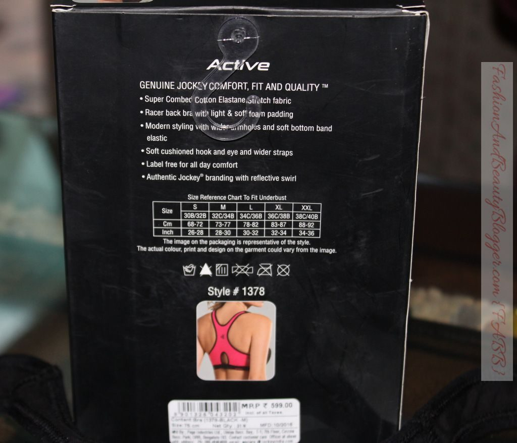 Jocky Racer Back Padded Active Bra Review